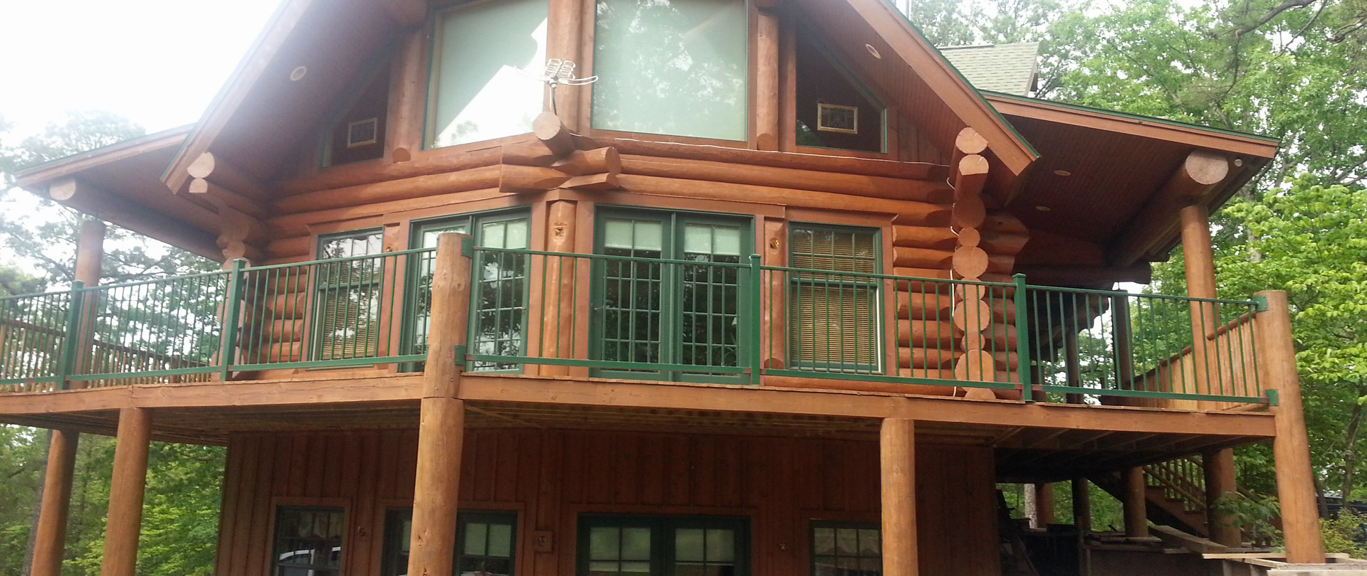 Contact us to restore your log home to its original beauty