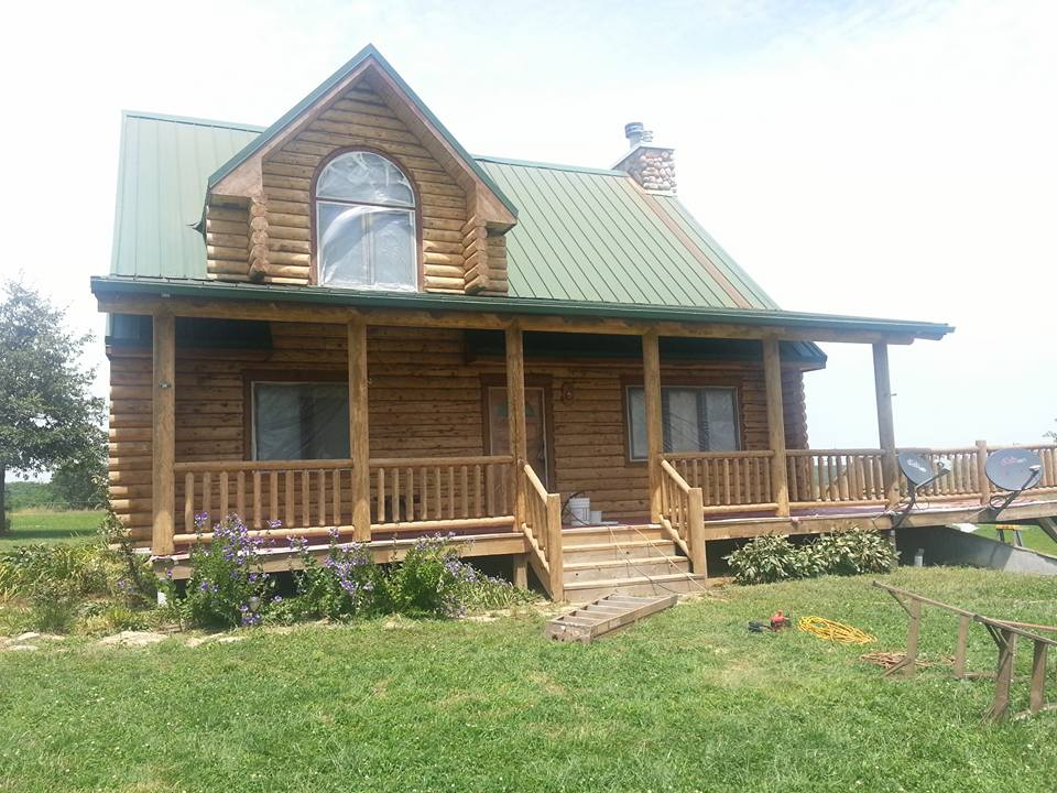Log home renovation and restoration services