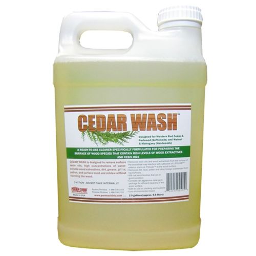 cedar wash for cleaning red cedar and redwood