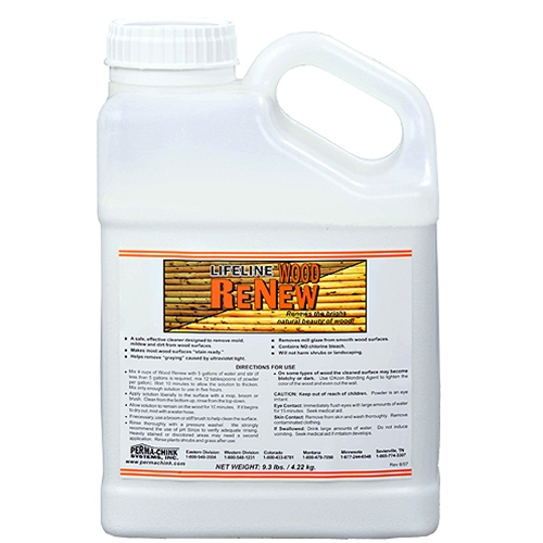 Wood ReNew cleaning solution for log homes
