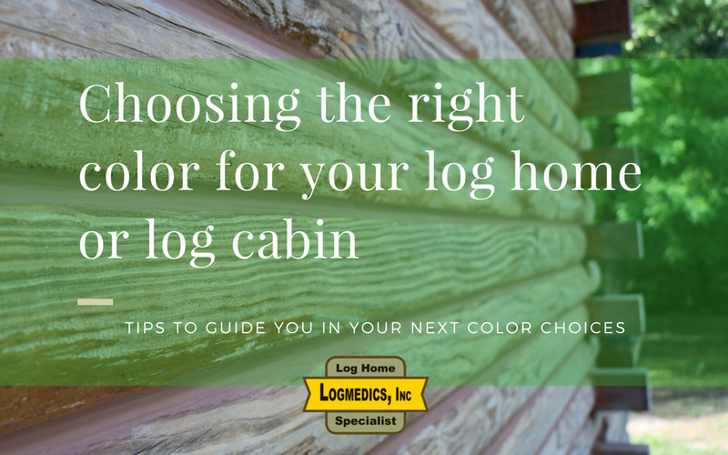 Choosing the right color for your log home or log cabin
