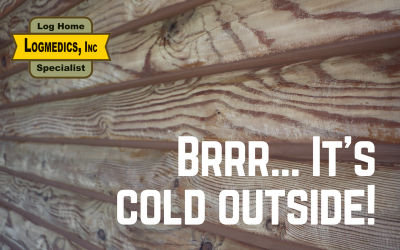 Brrr, it's cold outside! How to stop that cold air from leaking into your log home.